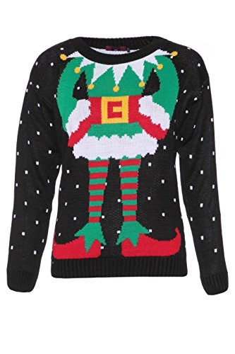 Christmas 3D Knitted Deer Santa Elf Olaf Snowman LED Rudolf Reindeer Jumper