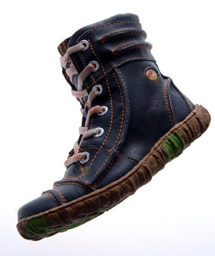Leder Stiefeletten Damen Schwarz Köchel Schuhe echt Leder Winter Stiefel gefüttert Gr. 36