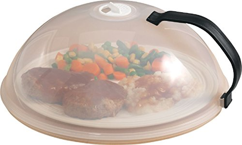 home-x domed vented microwave cover,video review,handle,(VIDEO Review) Home-X Domed Vented Microwave Cover with Handle,