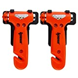 41Ac%2BojaqkL. SL160  - BEST BUY #1 [2 Pack] Ipow Car safety Antiskid Hammer Seatbelt Cutter Emergency Class/Window Punch Breaker Auto Rescue Disaster Escape Life-Saving Hammer Tool (Small)