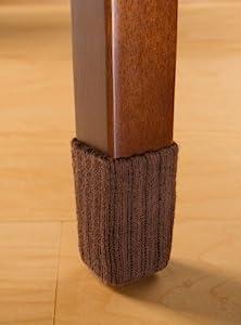 SmallChocolate Brown Chair Leg Floor Protector Pads 8