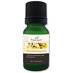 Frankincense Essential Oil - 100% Pure Organic Therapeutic Grade - by Botanic Essence - Undiluted, Healthy Skin, Arthritis, and Healing - Boswellia Serrata 10 ml.