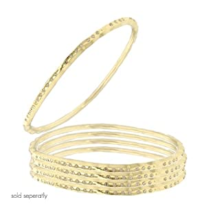 Crystal Gold Plated Bangle