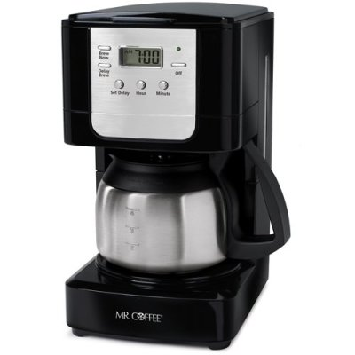 Mr. Coffee JWX9 5-Cup Programmable Coffeemaker, Black with Stainless Steel Carafe