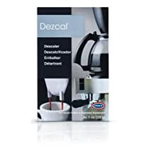 Urnex Dezcal Home Activated Descaler, For Home Coffee & Espresso Equipt., 4 - 1 oz Packets