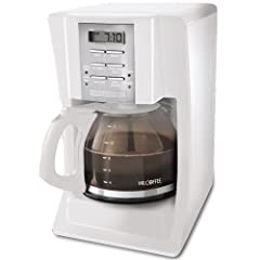 Mr. Coffee SJX20 12-Cup Programmable Coffeemaker, White