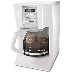 Mr. Coffee SJX20 12-Cup Programmable Coffeemaker, White
