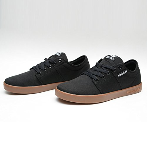 (スープラ) SUPRA STACKS 2 BLACK CANVAS GUM 8(26cm)
