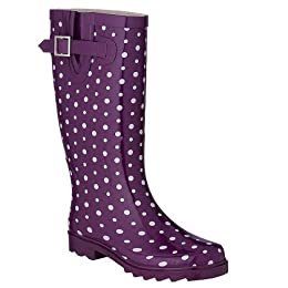 Product Image Women's Ditsy Dots Rain Boots - Purple