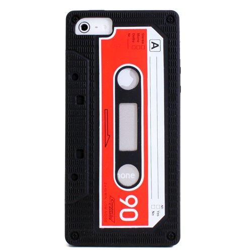 iPhone 5 カセットテープ風 シリコン ケース ブラック silicone case for iPhone5
