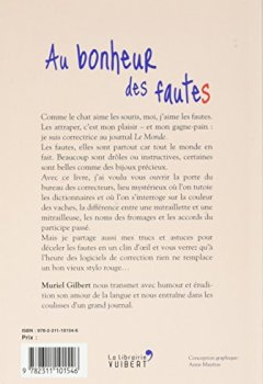 Livres Couvertures de Au bonheur des fautes : Confessions d'une dompteuse de mots