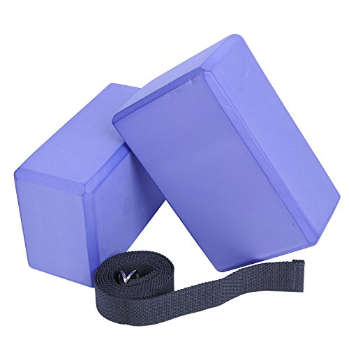 Veda Yoga Foam Blocks (Set of 2) plus strap