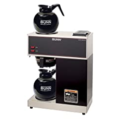 BUNN VPR Commercial 12-Cup Pour-Over Coffee Brewer, with 2 Warmers