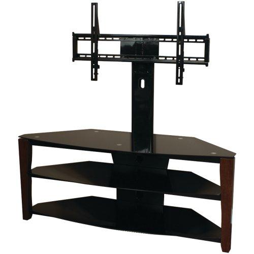 Techcraft Flex52w 52 Inch Wide Tv Stand With Mount Wood Legs Glass