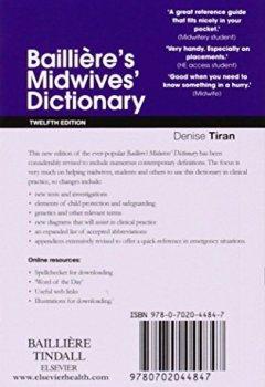 Livres Couvertures de Bailliere's Midwives' Dictionary