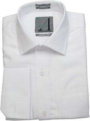 ALVISO-Boys-French-Cuff-Cufflink-White-Textured-Dress-Shirt-6109-BOFR