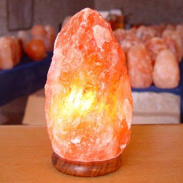 9-inch, Indus Classic, Tall Himalayan Natural Crystal Rock Salt Lamp with Cor...