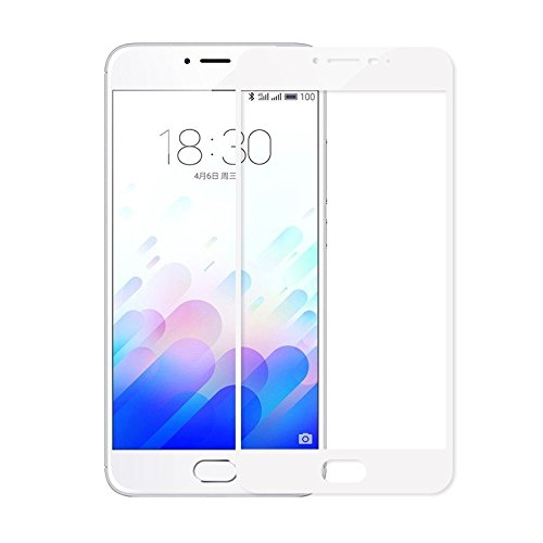 Meizu m3 Note Kaira 2.5D curved White colour 0.3mm Pro+ High Transparency Tempered Glass Screen Protector