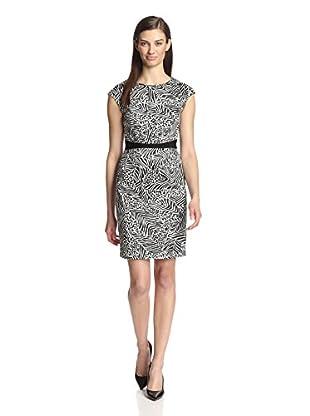 Paperwhite Women's Printed Zip Dress (Black/White)