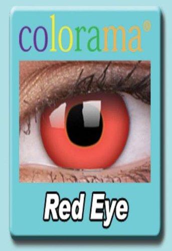 Farbige Kontaktlinsen Crazy Lenses Kostüm Karneval RED EYE / ROT