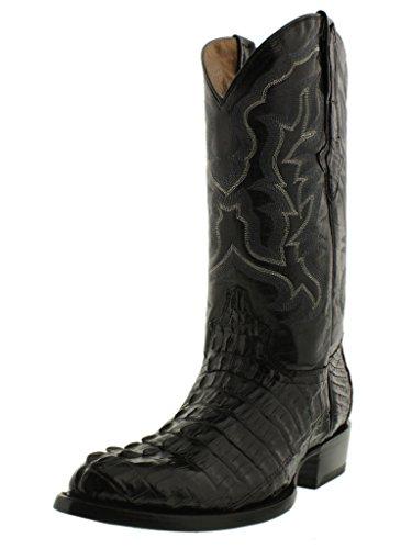 35e89db619e El Presidente - Men's Black Genuine Crocodile Tail Leather Western ...