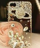 iPhone5ケース カバー 保護フィルム付き DecoQueenオリジナル商品 ノベルティ付き! ヴィヴィアン ブランド キラキラ デコ電 ラインストーン ホワイト 5-0003 アイフォン