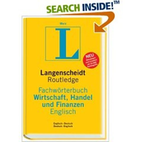 Langenscheidt/Routledge German-English English-German Dictionary of Business, Commerce and Finance