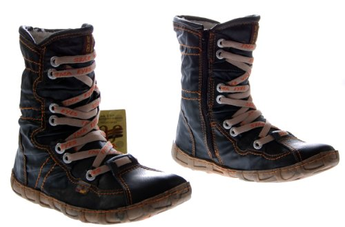 Leder Stiefeletten Damen Schwarz Köchel Schuhe echt Leder Winter Stiefel gefüttert Gr. 39