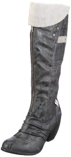 Mustang 1044-506 Damen-Stiefel, Damen Stiefel, Grau (stein 200), EU 36