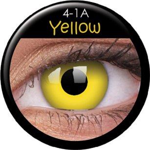 Farbige Kontaktlinsen crazy Kontaktlinsen crazy contact lenses Gelbe Kontaktlinsen Yellow 1 Paar.Topqualität mit Linsenbehälter.