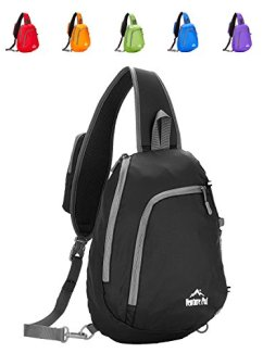 Venture Pal Sling Shoulder Crossbody Bag Lightweight Hiking Travel Backpack Daypack for Men Women