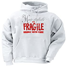 Hair Stylists are FRAGILE handle with care Youth Hooded Sweatshirt (for Kids) Various Colors Available