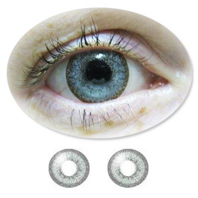 Farbige Kontaktlinsen Monatslinsen Fun Calaview PearlGrey /Graue ohne Stärken / Dioptrien