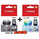 Canon PG-210XL /CL-211XL Color Ink Cartridge Combo Pack-Black for $43.25 + Shipping