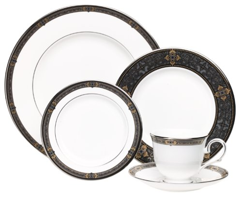 Lenox Vintage Jewel Platinum-Banded Bone China 5-Piece Place Setting, Service for 1