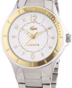 Lacoste  Acapulco - Reloj de cuarzo para mujer, con correa de acero inoxidable, color plateado