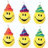 Smiley Faces Cake Candles (pack of 6)