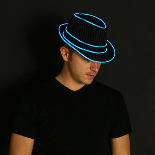 Light Up Fedora – Made with El Wire by Electric Styles