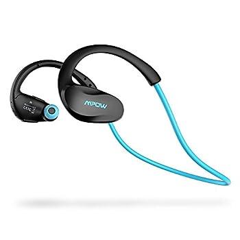 Mpow Cheetah Bluetooth4.1スポーツヘッドセット ワイヤレスステレオヘッドセット イヤホン iPhone&Android などのスマートフォンに対応 AptX対応 (ブルー)