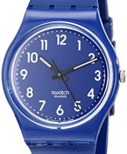 Swatch GN230 - Reloj analógico unisex de cuarzo con correa de plástico azul