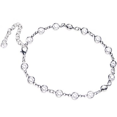 Body-Candy-Handcrafted-Clear-Accent-Adjustable-Anklet-Created-with-Swarovski-Crystals