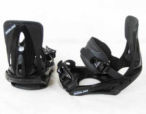 snowboard bindings strap in Snowjam black 2014 NEW men bindings up to size 13 men!