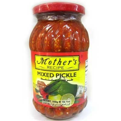 Mothers Recipe Mixed Pickle - 17.64oz., 500g.