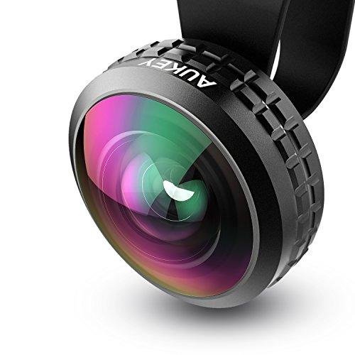 AUKEY 超広角レンズ 238°0.2×ワイドレンズ セルカレンズ iPhone、Samsung、Sony、Androidスマートフォン、タプレットなどに対応 PL-WD02