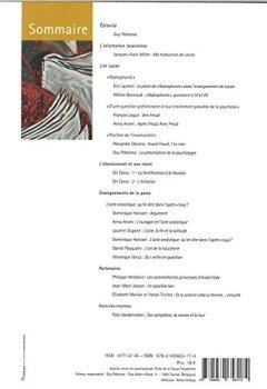 Livres Couvertures de Quarto n°118 Lire Lacan - Mars 2018