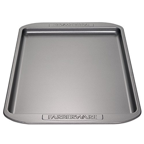 Farberware Nonstick Bakeware 10-Inch x 15-Inch Cookie Pan, Gray