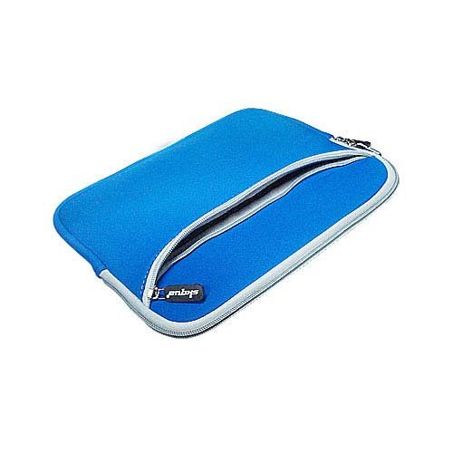 Generic Amazon Kindle 1st Generation Neoprene Sleeve Blue Case with an Extra Zipper Pouch