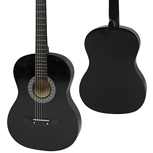38-Black-Acoustic-Guitar-Starter-Package-Guitar-Gig-Bag-Strap-Pick