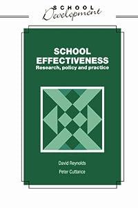 """Cover of """"School Effectiveness (School De..."""
