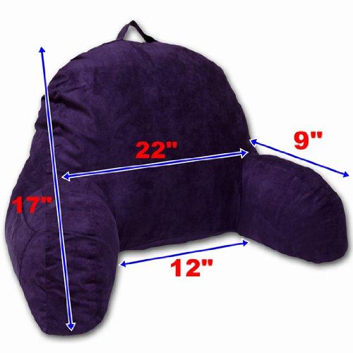 Microsuede Bedrest Pillow Black Best Bed Rest Pillows
